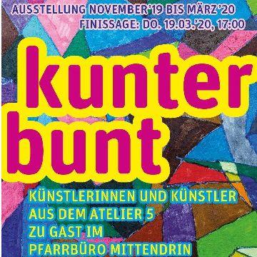 """Thumbnail for KUNTERBUNT Ausstellung des Atelier 5 im ökumenischen Gemeindebüro """"mittendrin"""""""