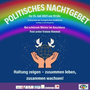 """Thumbnail for 5. Politisches Nachtgebet """"Haltung zeigen — zusammen leben, zusammen wachsen"""""""