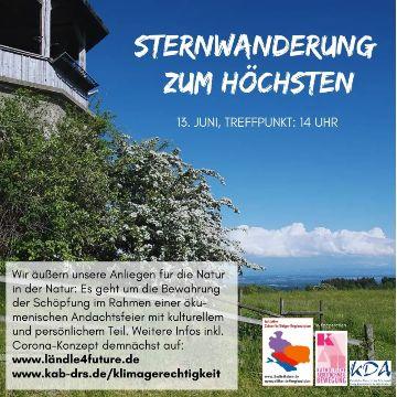 Thumbnail for Umweltschutz: Sternwanderung zum Höchsten mit ökumenischem Gottesdienst