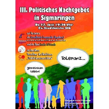 """Thumbnail for 3. Politisches Nachtgebet  -  """"Toleranz – gemeinsam leben"""""""