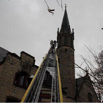 Thumbnail for Feuerwehreinsatz bei der Ev. Stadtkirche