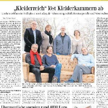 """Thumbnail for """"Kleiderreich"""" löst Kleiderkammern ab."""