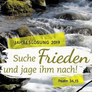 """Thumbnail for """"Suche Frieden und jage ihm nach"""" Gottesdienst zur Jahrslosung 2019"""